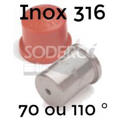 Embout cône plein inox 316...